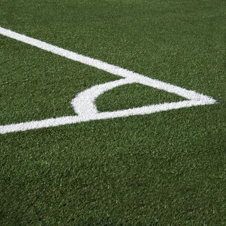 Corner of the soccer field photo