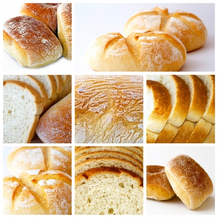 collage about bread theme photo