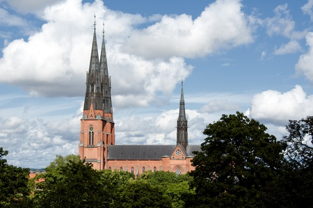 highest: Uppsala cathedral, the highest in Scandinavia Stock Photo