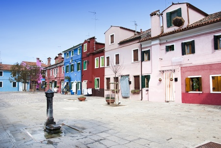 Traditional houses of Burano island - Venice, Italy photo