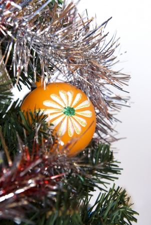 A orange  Christmas tree decoration Stock Photo - 15781065