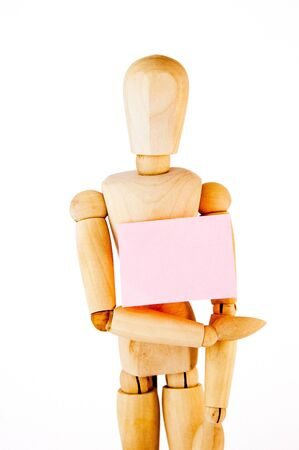 wooden mannequin: wooden mannequin isolated on white background
