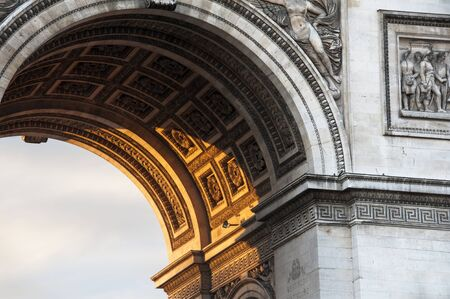 blurr: Paris, dettail of the Arc de Triomphe
