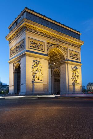 blurr: Paris, Arc de Triomphe by night with strips of vehicles