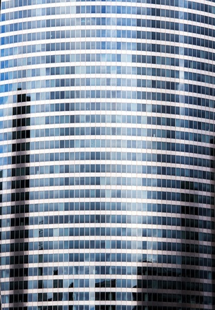 many windows: Skyscraper wall with many windows office