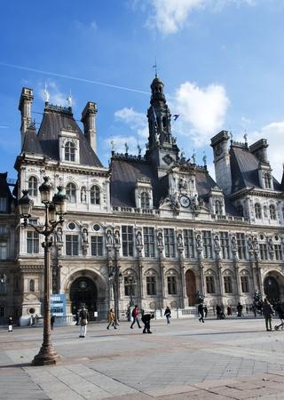ville: Hotel de ville - the city hall of Paris, France