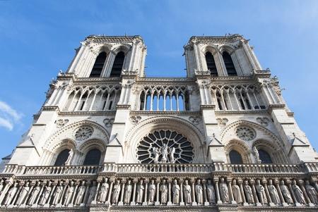 cite: Cathedral  Notre Dame de Paris  on Cite island in Paris, France