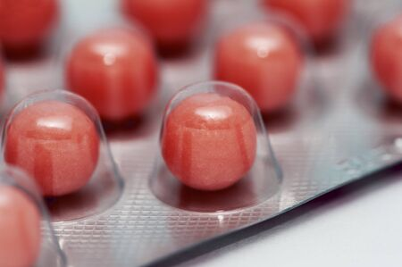 antidepressant: A red pill in a blister