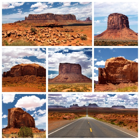 john wayne: A collage of photos about Monument Valley, Utah, USA