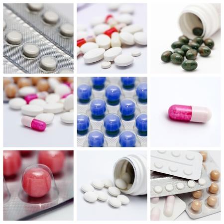 medicate: Pills collage