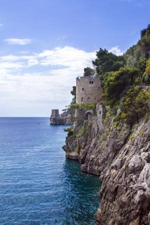 positano: Famous Amalfi Coast view from  Positano, Italy Stock Photo