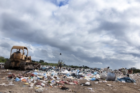 household waste: A big municipal landfill for household waste