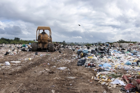 A big municipal landfill for household waste