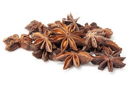 Anise stars on a white background photo
