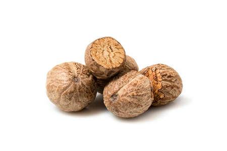 nutmeg: nutmeg on a white background