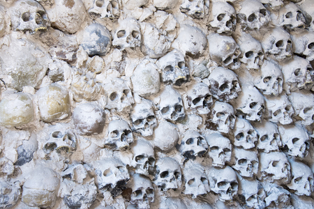 gruesome: A wall of skulls - background
