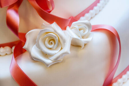 Detail of a delicious wedding cake photo
