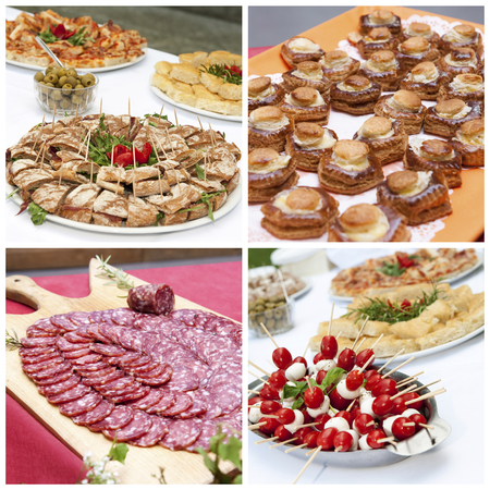 jambon: A collage of appetizers photos