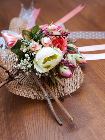 dried flower arrangement: A composition of beautiful dried flowers