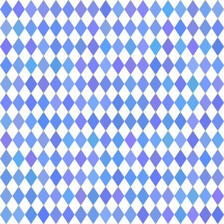 Oktoberfest traditional Bavarian rhombus background. Blue and white wallpaper vector abstract geometric pattern. German autumn beer festival Oktoberfest. Seamless checkered pattern Bavarian flag. Illustration