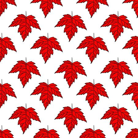Autumn seamless stylized leaf pattern. Seamless decorative template texture with leaves.