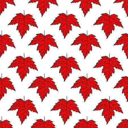 Herfst naadloze gestileerde blad patroon. Naadloze decoratieve malplaatjetextuur met bladeren.