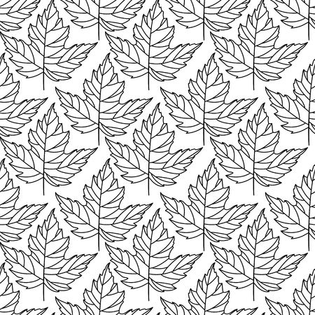 Autumn seamless stylized leaf pattern. Seamless decorative template texture with leaves. abstract seamless stylized pattern with leaves on a white background 向量圖像
