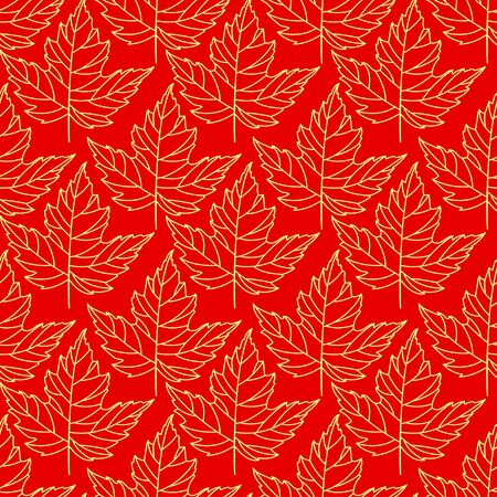 Autumn seamless stylized leaf pattern. Seamless decorative template texture with leaves. Abstract seamless stylized pattern with leaves on a dark background