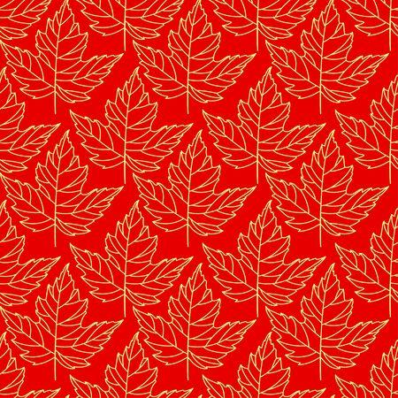 Herfst naadloze gestileerde blad patroon. Naadloze decoratieve malplaatjetextuur met bladeren. Abstract naadloos gestileerd patroon met bladeren op een donkere achtergrond