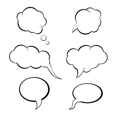 spraak bubbels set, denk bubbel vector. tekstballon pictogram