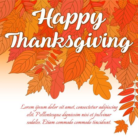 Happy Thanksgiving Day logo, badge en pictogram. Happy Thanksgiving Day logo sjabloon. Thanksgiving day kaartsjabloon. Happy Thanksgiving-banner, vlieger. Vector illustratie