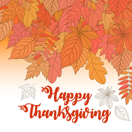 Happy Thanksgiving Day logotype, badge and icon. Happy Thanksgiving Day logo template. Thanksgiving Day card template. Happy Thanksgiving banner, flyer. Vector illustration