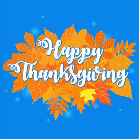 Flat design style Happy Thanksgiving Day logotype, badge and icon. Happy Thanksgiving Day logo template. Thanksgiving Day card template. Happy Thanksgiving banner, flyer. Vector illustration 向量圖像
