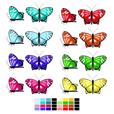 vector butterfly set 1