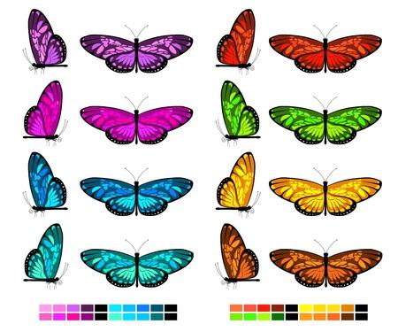 vector butterfly set 2 Stock Illustratie