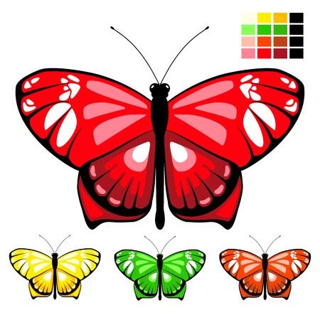 vector butterfly set 10 Stock Illustratie