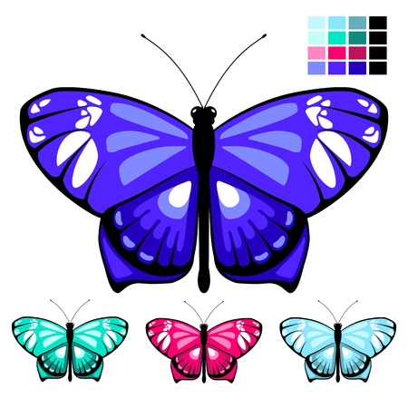 vector butterfly set 9 Stock Illustratie