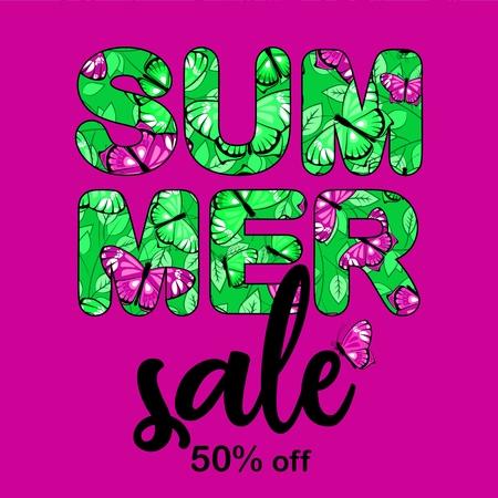 Summer sale vegtor bunner 1