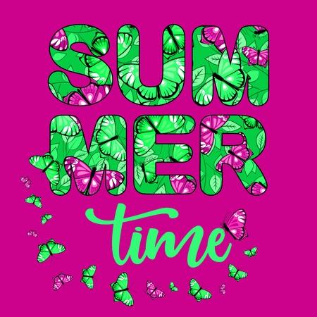 Summer time vector banner 1