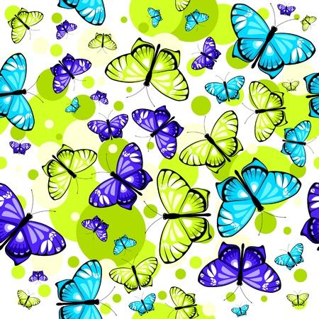 pattern with butterflies 2 Stock Illustratie
