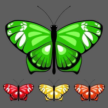 vector butterfly set 8 Stock Illustratie