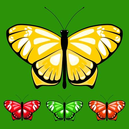 vector butterfly set 12 Stock Illustratie