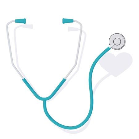stethoscope and heart 3 Stock Illustratie