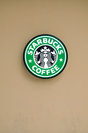 Bangkok, Thailand - October 1, 2013  Starbucks coffee, a luxury store on 1 October 2013 at The Circle, new shopping center at Ratchapruk road, east of Bangkok