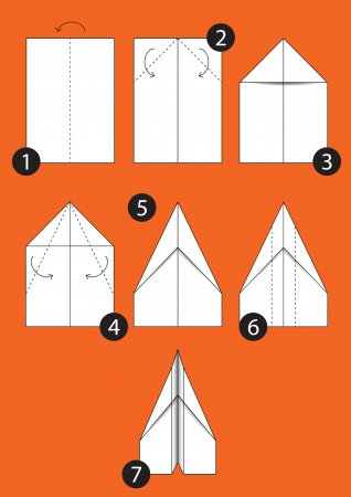 How to make origami Airplane – Instructions in 7 steps