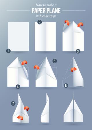 how: Instrucciones de c�mo hacer un avi�n de papel origami en 8 sencillos pasos