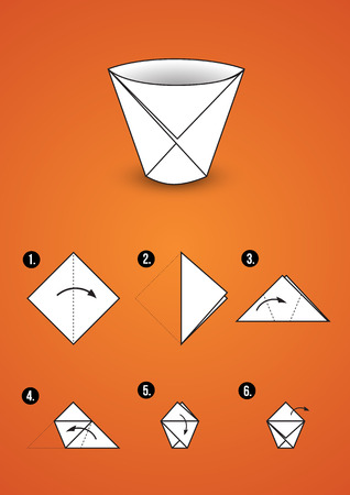 Instructions How Make Paper Hat Tutorial Stockillustration 334757894 | 450x318