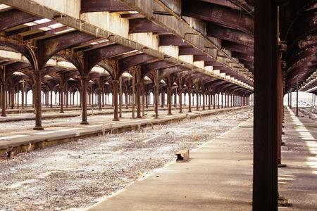 Abandoned Railway Station at Liberty island, New Jersey