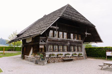 Historical Cheese Factory from 1750 producing typical Swiss Emental Cheese