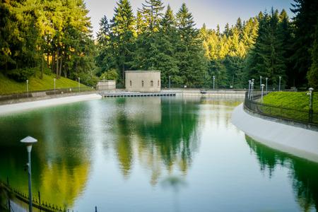 Drinking Water Reservoirs at Washington Park in Portland, Oregon, USA